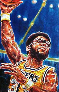 Kareem Abdul Jabbar Los Angeles Lakers Limited Edition Print