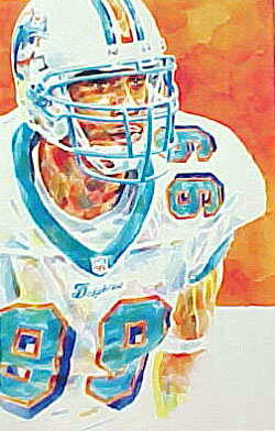Jason Taylor Miami Dolphins Limited Edition Print