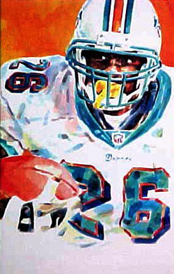Lamar Smith Miami Dolphins Limited Edition Print