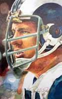 Merlin Olsen Los Angeles Rams Print
