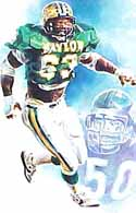 Mike Singletary Baylor Bears Limited Edition Print