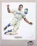 Jackie Robinson Brooklyn Dodgers Lithograph