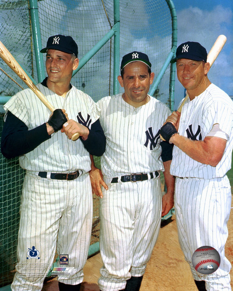Marris, Berra & Mantle New York Yankees Photo