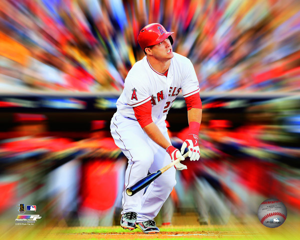 Mike Trout Motion Blast Los Angeles Angels Photo
