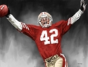 8 X 10 Ronnie Lott San Francisco 49ers Limited Edition Giclee Series #1
