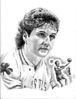 Larry Bird Boston Celtics Limited Edition Lithograph By Don Leo