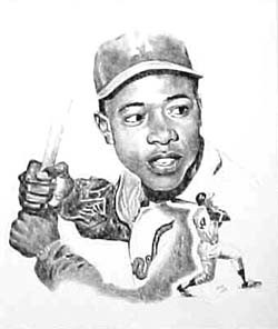 Hank Aaron Milwauke Braves Limited Edition Lithograph By Don Leo