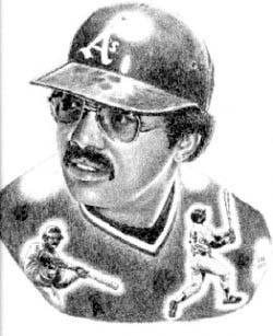 Reggie Jackson Oakland Athletics Limited Edition Lithograph By Don Leo