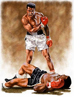 13 X 17 Muhammad Ali Boxing Limited Edition Giclee Series #1