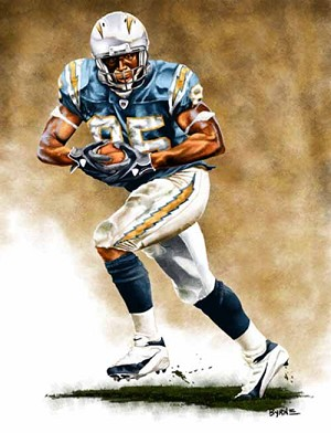 13 X 17 Antonio Gates San Diego Chargers Limited Edition Giclee Series #1