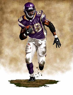 13 X 17 Adrian Peterson Minnesota Vikings Limited Edition Giclee Series #1