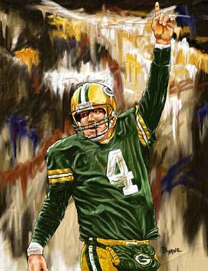 8 X 10 Brett Favre Green Bay Packers Limited Edition Giclee Series #2