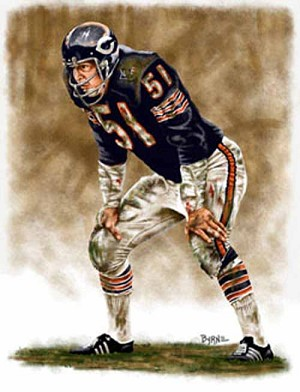 8 X 10 Dick Butkus Chicago Bears Limited Edition Giclee Series #1