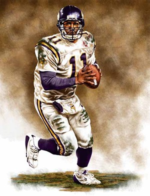 13 X 17 Daunte Culpepper Minnesota Vikings Limited Edition Giclee Series #1