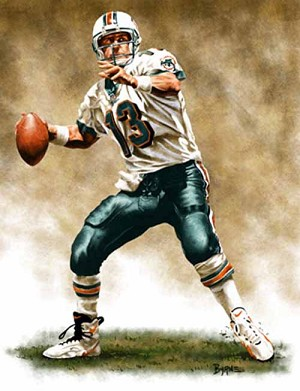 8 X 10 Dan Marino Miami Dolphins Limited Edition Giclee Series #1