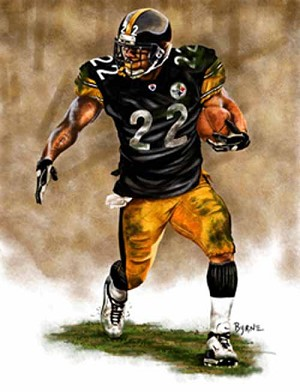 13 X 17 Duce Staley Pittsburgh Steelers Limited Edition Giclee Series #1