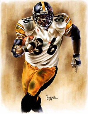13 X 17 Jerome Bettis Pittsburgh Steelers Limited Edition Giclee Series #1