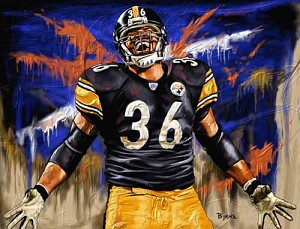 11 X 14 Jerome Bettis Pittsburgh Steelers Limited Edition Giclee Series #2