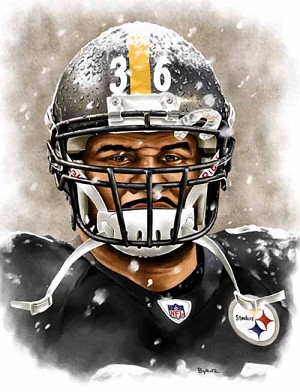 13 X 17 Jerome Bettis Pittsburgh Steelers Limited Edition Giclee Series #4