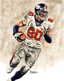 13 X 17 Jeremy Shockey New York Giants Limited Edition Giclee Series #1