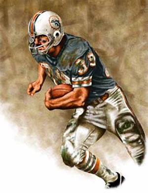 11 X 14 Larry Csonka Miami Dolphins Limited Edition Giclee Series #1