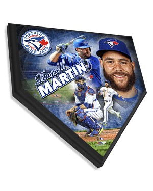 Russell Martin Toronto Blue Jays Home Plate Plaque