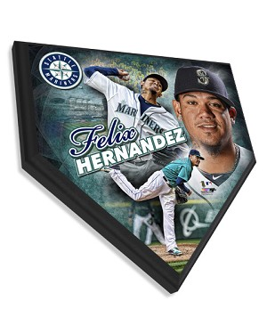 Felix Hernandez Seattle Mariners Home Plate Plaque