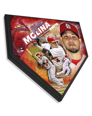 Yadier Molina St. Louis Cardinals Home Plate Plaque