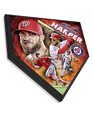 Bryce Harper Washington Nationals Home Plate Plaque