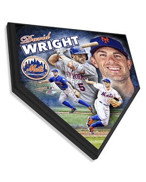 David Wright New York Mets Home Plate Plaque