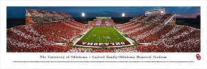 Oklahoma Sooners Panoramic Picture - Memorial Stadium