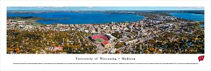 Wisconsin Badgers Panoramic - Camp Randall Stadium Aerial Picture