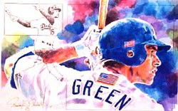 Shawn Green Los Angeles Dodgers Limited Edition Print