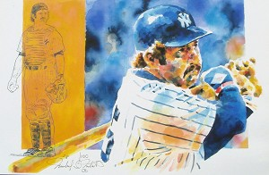 Thurman Munson New York Yankees Limited Edition Print