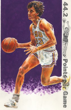 Pete Maravich LSU Tigers Limited Edition Print