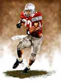 8 X 10 Eddie George Ohio State Buckeyes Limited Edition Giclee Series #1