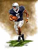 11 X 14 Larry Johnson Penn State Nittany Lions Limited Edition Giclee Series #1