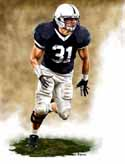 11 X 14 Paul Posluszny Penn State Nittany Lions Limited Edition Giclee Series #1