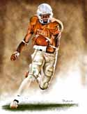 11 X 14 Vince Young Texas Longhorns Limited Edition Giclee Series #1