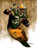 8 X 10 Ahman Green Green Bay Packers Limited Edition Giclee Series #1