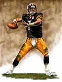 8 X 10 Ben Roethlisberger Pittsburgh Steelers Limited Edition Giclee Series #1