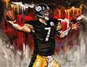 8 X 10 Ben Roethlisberger Pittsburgh Steelers Limited Edition Giclee Series #2