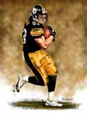 8 X 10 Heath Miller Pittsburgh Steelers Limited Edition Giclee Series #1