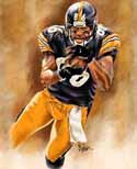 8 X 10 Hines Ward Pittsburgh Steelers Limited Edition Giclee Series #1