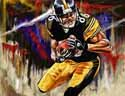 13 X 17 Hines Ward Pittsburgh Steelers Limited Edition Giclee Series #2