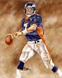 8 X 10 John Elway Denver Broncos Limited Edition Giclee Series #1