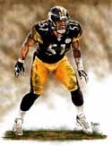 8 X 10 James Farrior Pittsburgh Steelers Limited Edition Giclee Series #1
