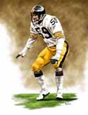 13 X 17 Jack Ham Pittsburgh Steelers Limited Edition Giclee Series #1
