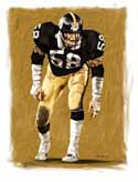 8 X 10 Jack Lambert Pittsburgh Steelers Limited Edition Giclee Series #3