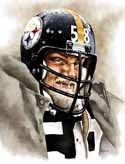 8 X 10 Jack Lambert Pittsburgh Steelers Limited Edition Giclee Series #4